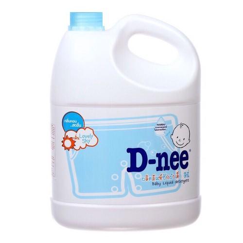 Nước giặt xả Dnee xanh 3000ml cho bé