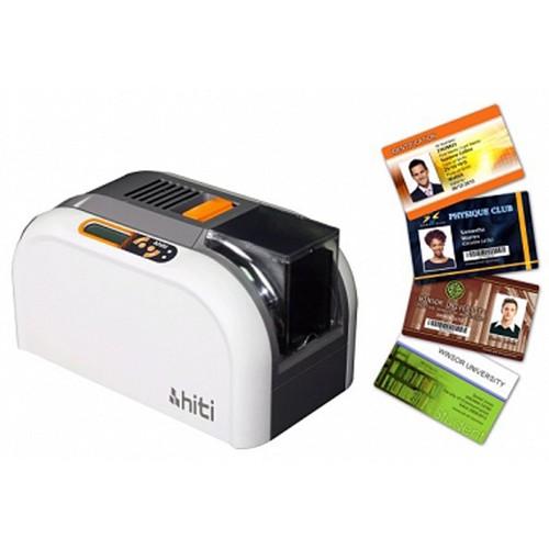 MÁY IN THẺ NHỰA - HITI CS200e - Máy in thẻ nhựa HITI CS200E - In thẻ nhân viên - Mã hóa thẻ từ - In mã vạch Bacode - In hai mặt tự động