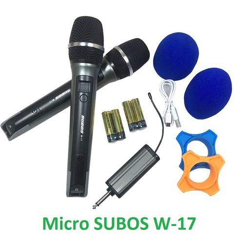 Micro không dây SUBOS W-17 dùng cho loa kéo,âm ly chất lượng cao, trống ồn - 8986664 , 18631480 , 15_18631480 , 1850000 , Micro-khong-day-SUBOS-W-17-dung-cho-loa-keoam-ly-chat-luong-cao-trong-on-15_18631480 , sendo.vn , Micro không dây SUBOS W-17 dùng cho loa kéo,âm ly chất lượng cao, trống ồn