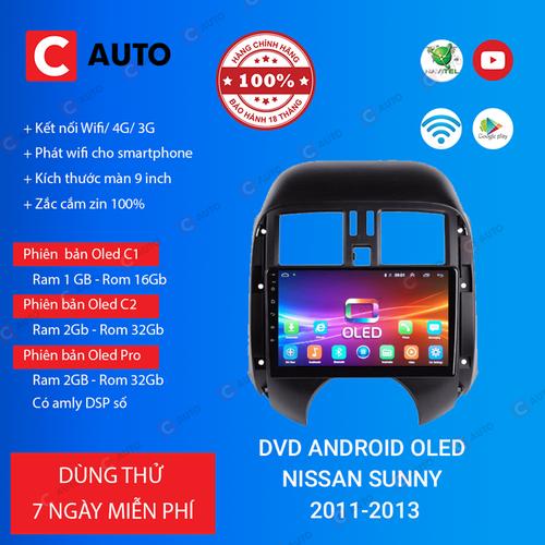 MÀN HÌNH DVD Ô TÔ ANDROID NISSAN SUNNY 2011-2013 CẮM SIM 4G