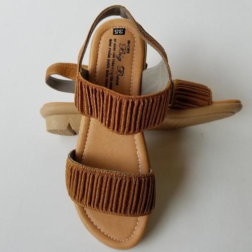 Giày Sandal Nữ Đế Bệt  Da Bò Thời Trang -  G5913