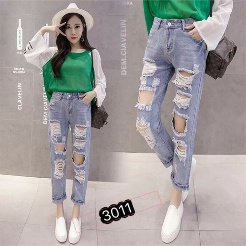 quần jean nữ rách