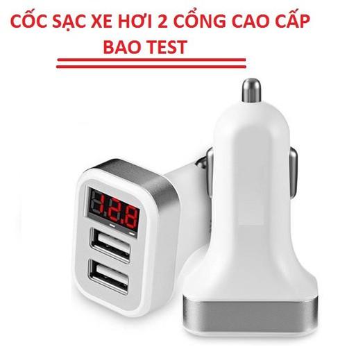 CỐC SẠC XE HƠI 2 CỔNG Z26 HÀNG CAO CẤP BAO TEST