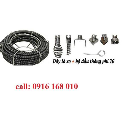 dây thông tắc cống 12m + bộ đầu thông 6 mũi + đầu kết nối máy khoan - 8988065 , 18633492 , 15_18633492 , 900000 , day-thong-tac-cong-12m-bo-dau-thong-6-mui-dau-ket-noi-may-khoan-15_18633492 , sendo.vn , dây thông tắc cống 12m + bộ đầu thông 6 mũi + đầu kết nối máy khoan