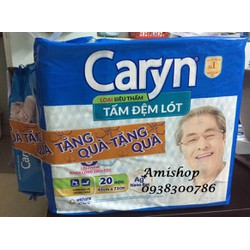 TẤM ĐỆM LÓT CARYN - BỊCH 20 MIẾNG [+Tặng khăn ướt Caryn]