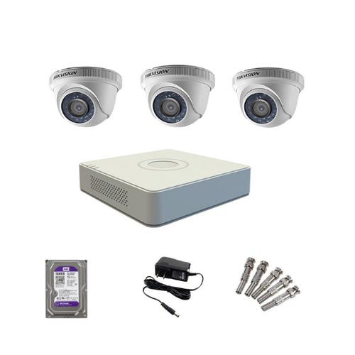 Bộ kit 3 Camera HIKVISION 2MP ốp trần hồng ngoại giá rẻ
