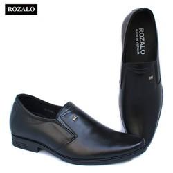 Giày tây nam tăng chiều cao 7cm da cao cấp Rozalo R85567-Màu Đen