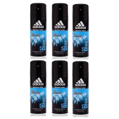 Combo 6 chai xịt khử mùi Adidas Ice Dive