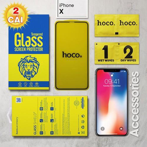 Combo 2 Miếng kính cường lực iPhone X Full Hoco đen - 8983280 , 18625835 , 15_18625835 , 157000 , Combo-2-Mieng-kinh-cuong-luc-iPhone-X-Full-Hoco-den-15_18625835 , sendo.vn , Combo 2 Miếng kính cường lực iPhone X Full Hoco đen
