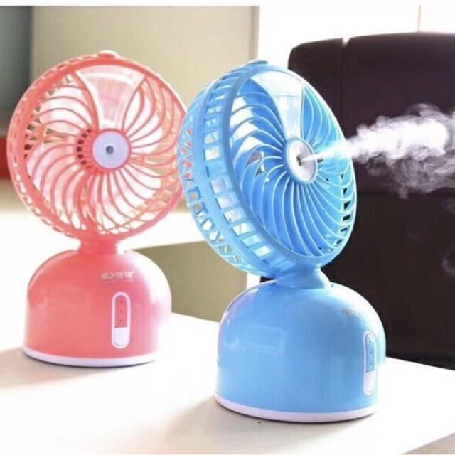 Quạt mini sạc điện phun sương 1