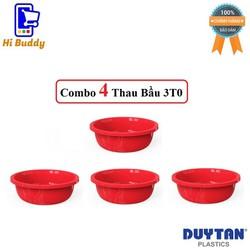 Combo 4 Thau Nhựa Bầu 3T0 Duy Tân Phi 30 x 10 cm No.540