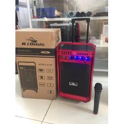 Loa Kéo Bluetooth Karaoke KIOMIC K28 Tặng Kèm Míc Không Dây