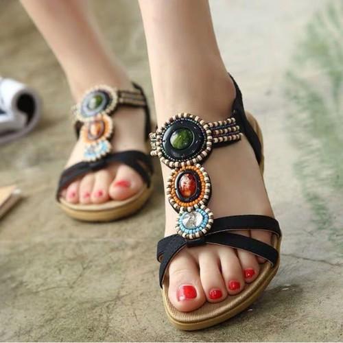 Giày sandal nữ đế bệt siêu đẹp