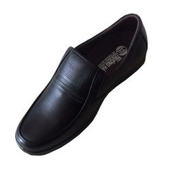 Giày tây nam không dây đen da bò thật Trường Hải
