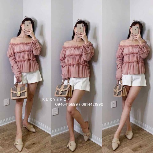 áo kiểu nữ trễ vai xinh - 4814488 , 18646160 , 15_18646160 , 69000 , ao-kieu-nu-tre-vai-xinh-15_18646160 , sendo.vn , áo kiểu nữ trễ vai xinh