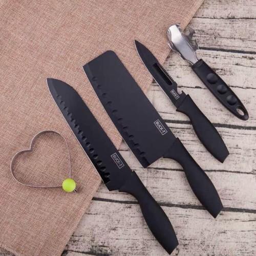 Bộ dao Buck-I đen 5 chi tiết CAO CẤP