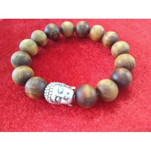Vòng gỗ bách xanh  kèm Cha.rm Phật - tăng hạt và dây dự phòng