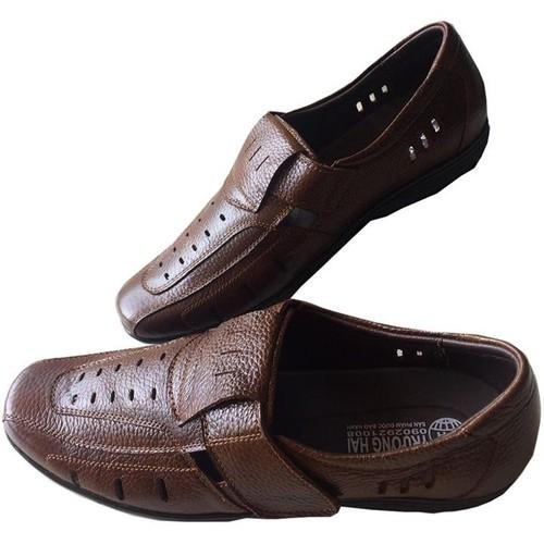 Giày rọ nam da bò cao cấp Trường Hải GR 115