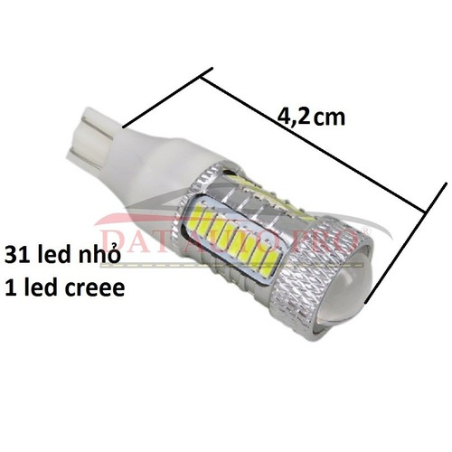 Bóng led T15 4014 31 led+1 led cree  dùng cho xe oto,xe máy.