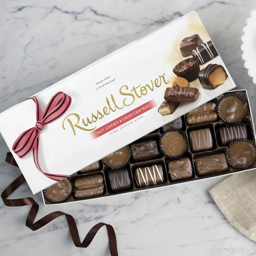 Chocolate Viên Russell Stover Nut Chewy Crisp Centers