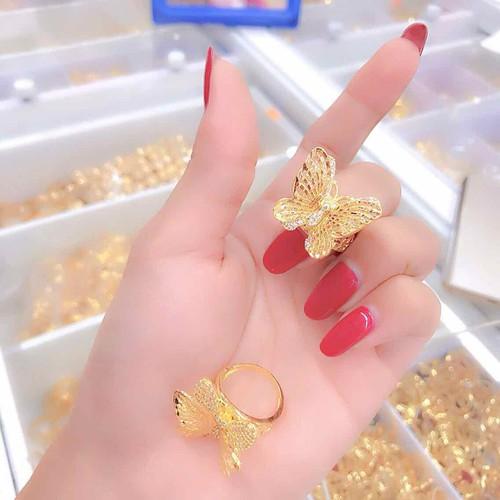 Nhẫn kiểu con bướm màu vàng 18 mẫu mới cực xinh