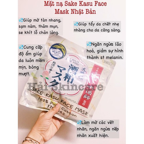 Mặt Nạ Sake Kasu Face Mask 33 Miếng - 4999167 , 18641914 , 15_18641914 , 300000 , Mat-Na-Sake-Kasu-Face-Mask-33-Mieng-15_18641914 , sendo.vn , Mặt Nạ Sake Kasu Face Mask 33 Miếng