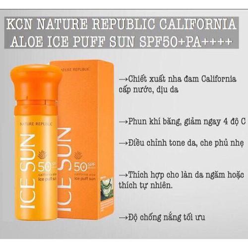 KEM CHỐNG NẮNG ICE SUN SPF50 PA++++Nature republic - 9000999 , 18654410 , 15_18654410 , 190000 , KEM-CHONG-NANG-ICE-SUN-SPF50-PANature-republic-15_18654410 , sendo.vn , KEM CHỐNG NẮNG ICE SUN SPF50 PA++++Nature republic