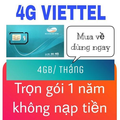 CỰC RẺ SIM VIETTEL 4G D500 KHÔNG CẦN NẠP TIỀN TẶNG 48GB DATA TỐC ĐỘ CAO