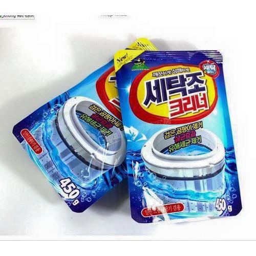 [ 02 bịch ] bột tẩy lồng máy giặt sandokkaebi 450gram - bột vệ sinh lồng máy giặt hàn quốc khử trùng khử mùi