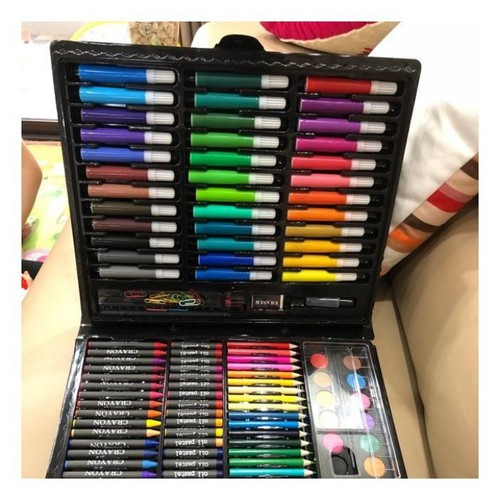 Hộp màu 150 chi tiết đầy đủ các loại bút cho bé tha hồ học vẽ