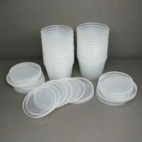 Bộ 10 cốc nhựa làm sữa chua thạch Caramen có nắp