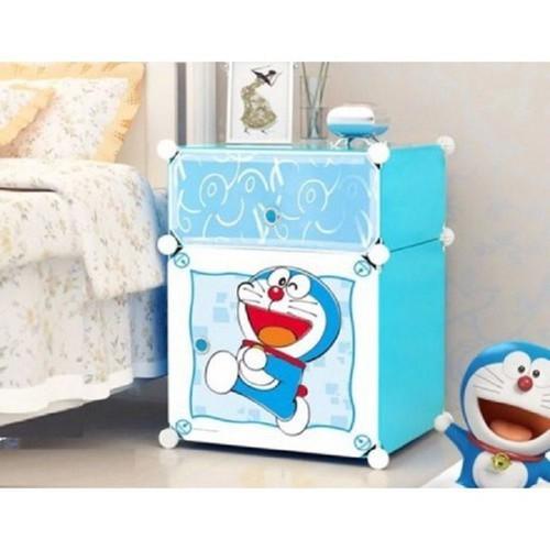 Tủ nhựa mini lắp ghép 2 tầng Doraemon