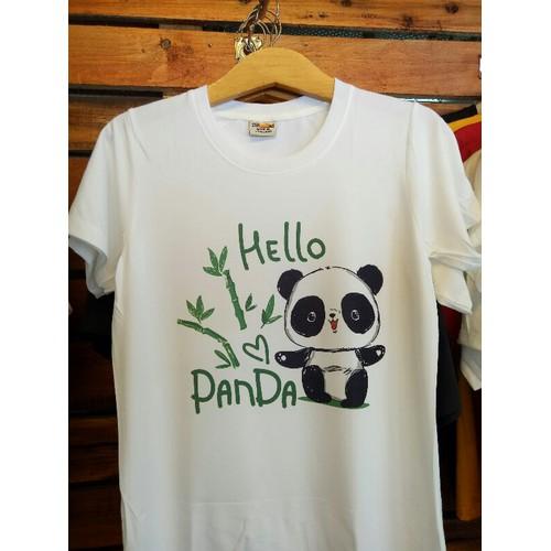 áo thun gấu trúc panda dễ thương Form rộng nam nữ thời trang