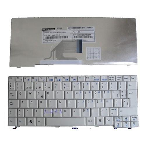 Bàn phím Keyboard laptop ACER ONE trắng