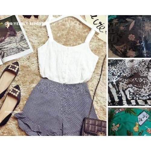 Set áo 2s baby doll và quần ngắn bèo