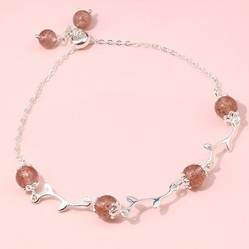Lắc Tay Silver S925 Italy Bảo Ngọc Jewelry Thạch Anh L-1774