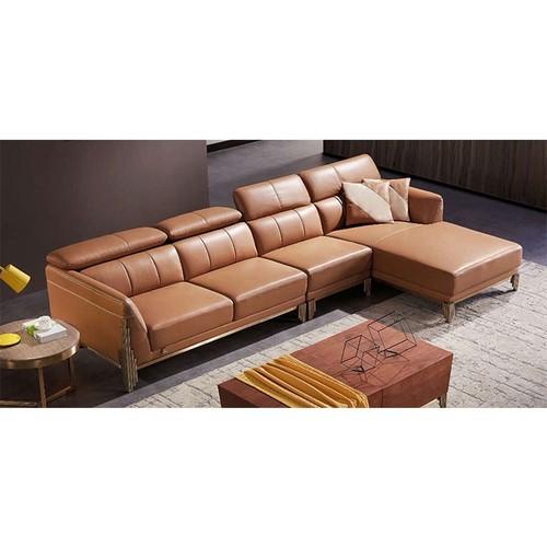 Ghế sofa góc da thật nhập khẩu HFC-GSF182-32 cao cấp