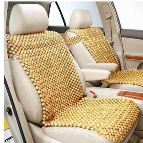 thảm lót ghế hạt gỗ có tai