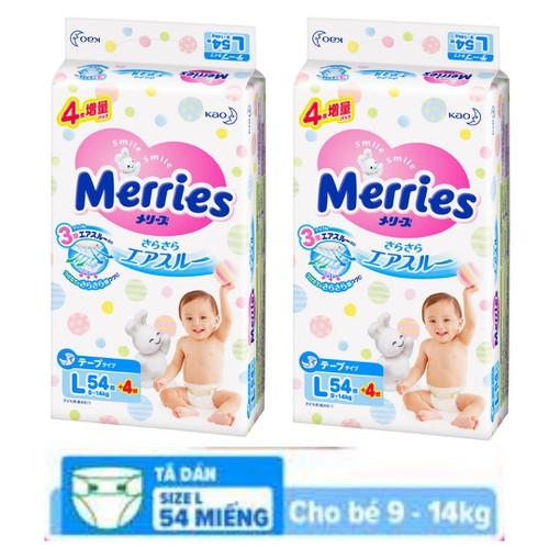 Combo 2 Tã Bỉm Dán Merries Cao Cấp Siêu Mềm|tã meries Nội Địa Cộng Thêm Mếng L54+4 cho bé từ 9-14 kg - 11211273 , 17825793 , 15_17825793 , 550000 , Combo-2-Ta-Bim-Dan-Merries-Cao-Cap-Sieu-Memta-meries-Noi-Dia-Cong-Them-Meng-L544-cho-be-tu-9-14-kg-15_17825793 , sendo.vn , Combo 2 Tã Bỉm Dán Merries Cao Cấp Siêu Mềm|tã meries Nội Địa Cộng Thêm Mếng L54+