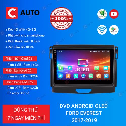 MÀN HÌNH DVD Ô TÔ ANDROID FORD EVEREST 2017-2019 CẮM SIM 4G