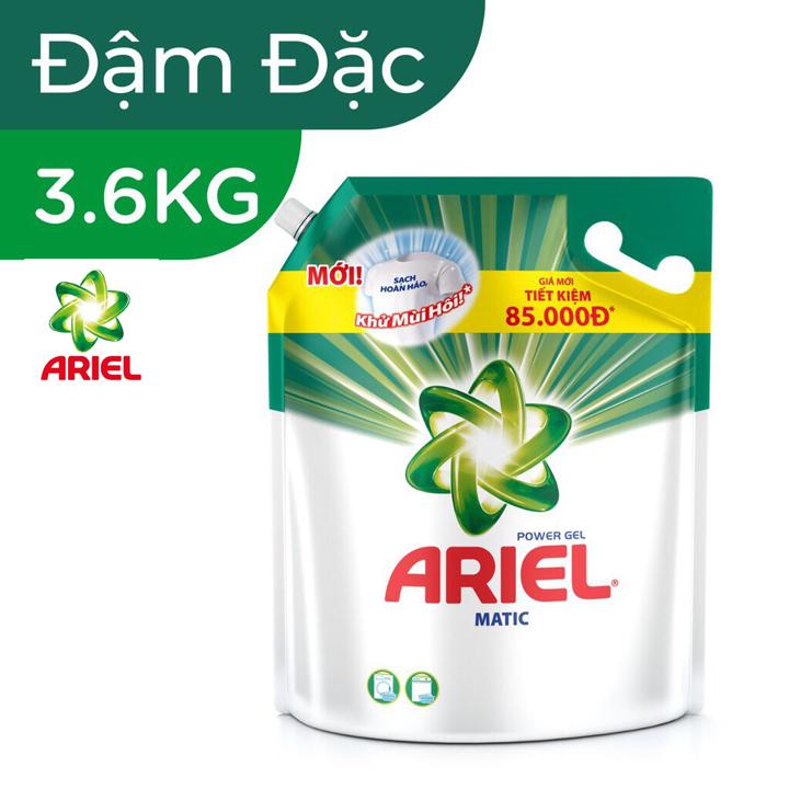 Nước giặt Ariel Đậm đặc túi 3.6kg - Ariel 3.6kg đậm đặc