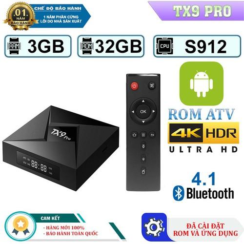 Android Tivi Box Tanix TX9 Pro - Ram 3GB, Rom 32GB, Bluetooth 4.1 - Đen