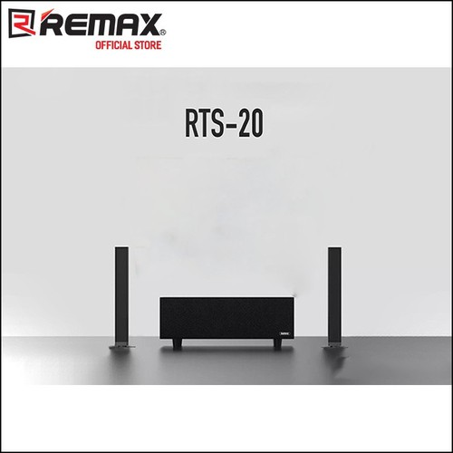 Loa Bluetooth REMAX Tris Series Home Theatre Sound Bar RTS-20 Wireless subwoofer màu đen