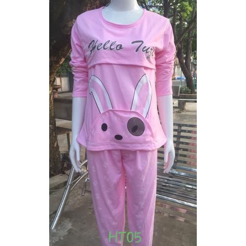 Bộ Sau Sinh Cotton Cho Mẹ 50-67kg Quần Có Chun Chỉnh Bụng