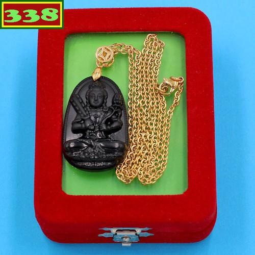 Vòng cổ Hư Không Tạng đen 3.6 cm DIVTEB6 kèm hộp nhung - Hộ mệnh người tuổi Sửu, Dần