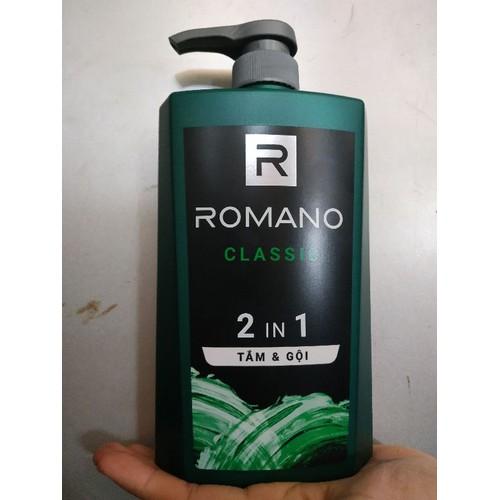 Sữa Tắm và Dầu Gội Đầu 2 in 1 Romano Classic 650mg - 4744086 , 17822196 , 15_17822196 , 152000 , Sua-Tam-va-Dau-Goi-Dau-2-in-1-Romano-Classic-650mg-15_17822196 , sendo.vn , Sữa Tắm và Dầu Gội Đầu 2 in 1 Romano Classic 650mg