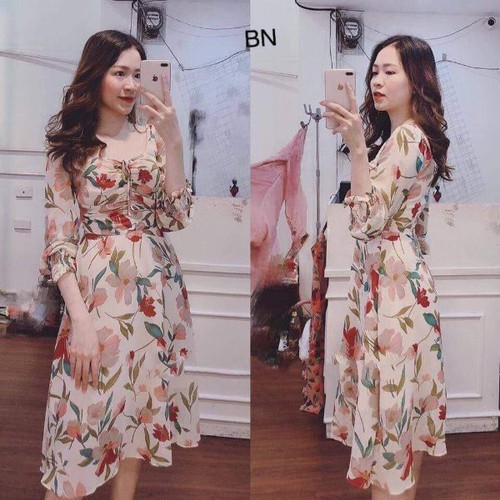 váy voan hoa