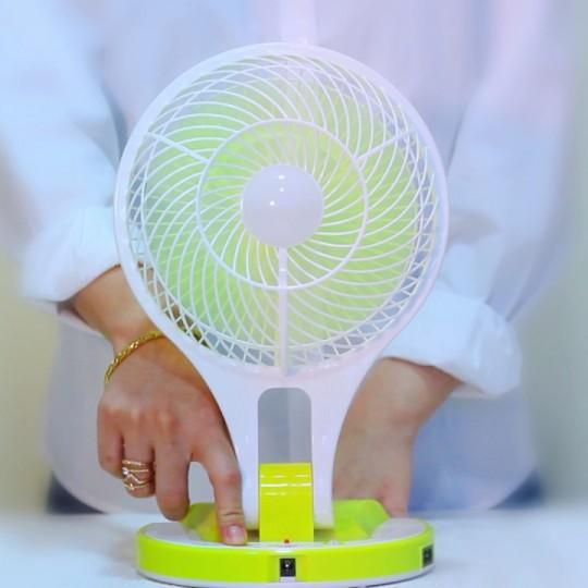 Quạt sạc điện kiêm đèn pin Mini Fan M-5580 5