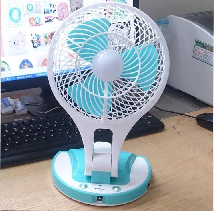 Quạt sạc điện kiêm đèn pin Mini Fan M-5580 4
