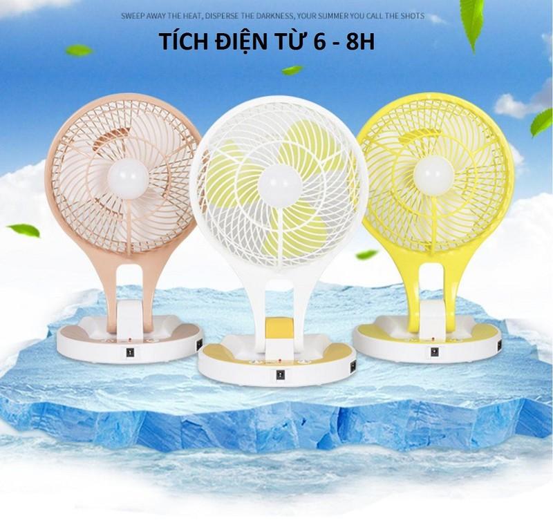 Quạt sạc điện kiêm đèn pin Mini Fan M-5580 2